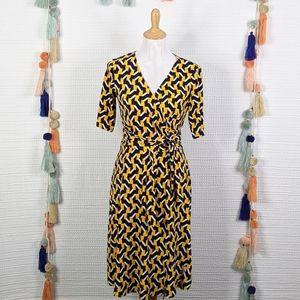 Julie Dillon Faux Wrap Dress